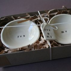 Image of you & me - set of little bowls