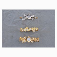 [Komorebi]シリーズから、3種のリング。 ワンランク上の上質なジュエリーを。  #GICLAT #gold #jewelry #jewellery #jewelrygram #ring #リング #ジュエリー #diamond #diamond #ダイヤ #ダイヤモンド #ローズカット #rosecut #dramajewelry #jewelrydesign