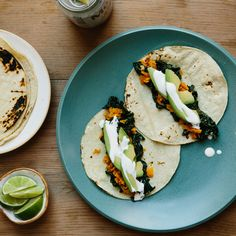 Kale. Avo. Sweet potato. Lime. Come on, you know you want these.