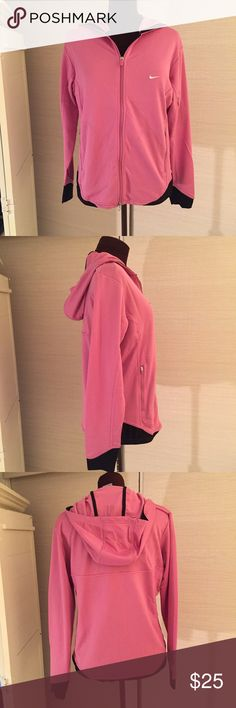 Nike Hoodie EUC. MEASUREMENTS: Shoulder Width - 16-1/2 inches, Back Length- 25-1/2 inches, Chest From Side Seam to Side Seam- 22 inches. MATERIAL: 100% Polyester. Nike Tops Sweatshirts & Hoodies