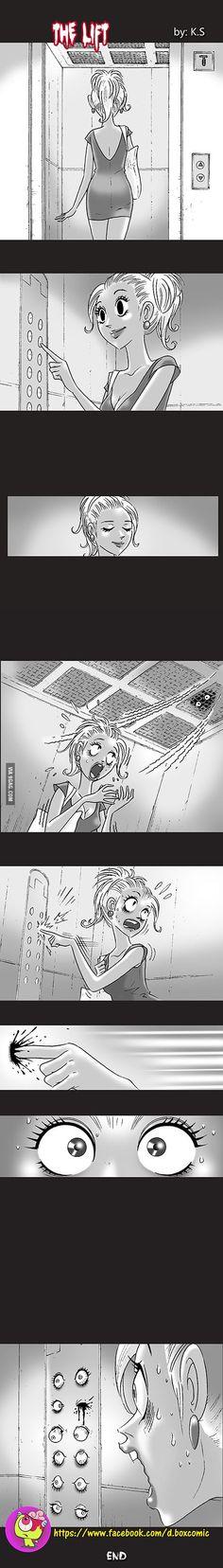 Horror in the lift - 9GAG