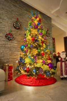 Christmas 2019 : Christmas Catalog 2019 The Home Depot Christmas Tree Goals, Grinch Christmas Tree, Luxury Christmas Tree, Mexican Christmas, Whimsical Christmas, Colorful Christmas Tree, Christmas Rock, Holiday Tree, Outdoor Christmas