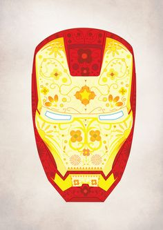 Oh my God, love! Day of the Dead Iron Man.