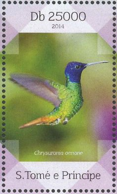 Golden-tailed Sapphire stamps - mainly images - gallery format