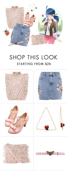 """""""Marinette"""" by area2002 on Polyvore featuring Topshop, Nach and Gucci"""