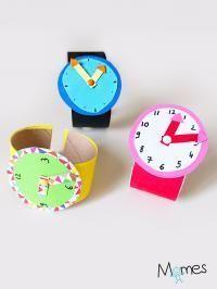 Make a watch of learning - .- Fabriquer une montre d'apprentissage – Make a learning watch – - Preschool Crafts, Preschool Activities, Fun Crafts, Toilet Paper Roll Crafts, Paper Crafts, Diy For Kids, Crafts For Kids, Kids And Parenting, Kids Learning