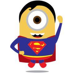 Estampa para camiseta Minions Superman 001250