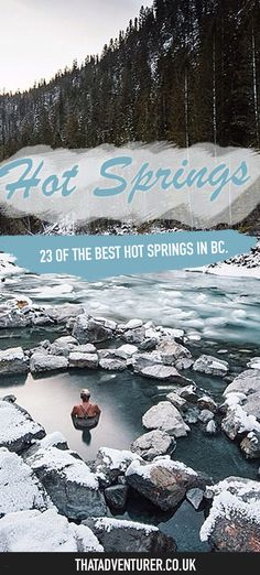 Best hot springs in BC Canada. If you love soaking in a hot spring or hot pool then check out these favorite hot springs in British Columbia, Canada for the ideal way to warm up during winter and relax after a great hike. Victoria Canada, Tofino British Columbia, Alberta Canada, Food Canada, Canada Eh, Westminster, Kyoto Japan, Canada Vancouver, Vancouver Island