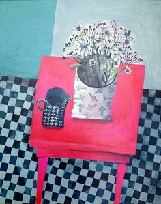 Will's Art Warehouse - Este Macleod 'Red Table Blue Milk Jug'.