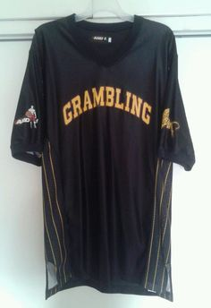 Vintage Grambling State Tigers HBCU And 1 Black Basketball Warm Up Jersey Large #And1 #GramblingTigers