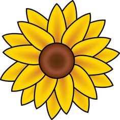 Free Printable Sunflower Stencils | Sunflower clip art - vector clip art online, royalty free & public ...