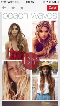 Quick And Easy Natural Beautiful Beach Waves. Get Hair Just Like Hannah On Pretty Little Liars.