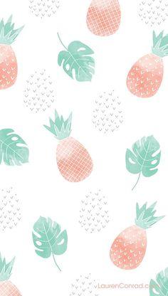 Pineapple phone wallpaper on LaurenConrad.com