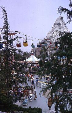 Fantasyland vista near the Swiss Chalet Skyway Station, 1966