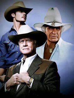 JR, Jock and John Ross Ewing of Dallas