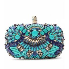 #Pucci Aqua Mint Turquoise # Evening Clutch