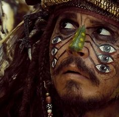 "Captain Sparrow where the ""Pelegostos believe that Jack is a god in human form""...lol"