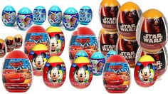 20 Surprise Egg Star Wars, Frozen, Cars Lightning McQueen, Mickey Mouse