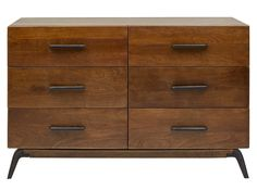 Lucien Wide Chest of Drawers, Mango Wood