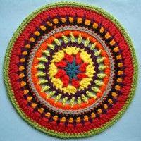 Crochet Mandala Wheel made by  Melanie, Kent, UK for yarndale.co.uk