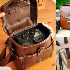 Owning a DSLR camera is the best toy a girl could ever own, but sometimes a girl's gotta match a bag to her outfit. This classic style DSLR bag is a perfect accessory for any photographer. Sturdy in t