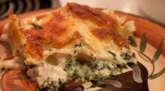 Chicken and Spinach Alfredo Lasagna.