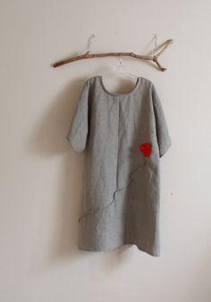 natural linen dress by annyschoo