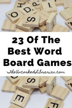 Are you looking for some of the best word board games to play? Find word games and board games for adults, teens, and the entire family. Book Challenge, Reading Challenge, Educational Board Games, Word Board, Fun Board Games, Adult Games, Word Games, Favorite Words, Book Of Life