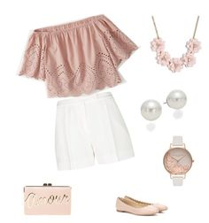 Pink! Prep by syim02 on Polyvore featuring polyvore, fashion, style, Abercrombie & Fitch, Elie Saab, Chloé, BCBGMAXAZRIA, J.Crew, Olivia Burton, AK Anne Klein and clothing