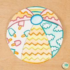 Need a last minute art sub plan? Here's a fun summer beach ball drawing art game for elementary art students. Paint on a dime using markers like paints! Summer Art Projects, Summer Crafts, Game Kunst, Beach Ball Crafts, Solar Light Crafts, Solar Lights, Art Sub Plans, Ball Drawing, Art Drawings