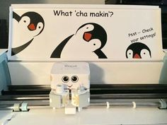 Cricut machine decal decoration inspiration vinyl with penguins what cha makin? Psst check your settings