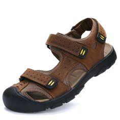 f930ca2fbb9 Summer Sandals Men Shoes Fashion Calzado Hombre Designer Rubber Toe Beach  Sapatos Size 38 to 45