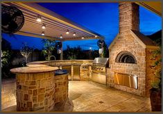 modern patio kitchen ideas pizza oven grill