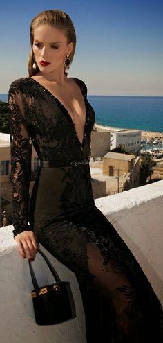 Plunging - Gorgeous dress; need to be brave & practice the bold lip  #ThomasStreetStudios https://www.facebook.com/ThomasStreetStudio