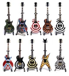 If you know me at all, know this: Zakk Wylde is the MAN! These are some from his collection...