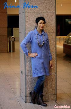 Moda Crochet, Rubrics, Crochet Clothes, Knit Dress, Crochet Patterns, Pullover, Knitting, Sweaters, How To Make
