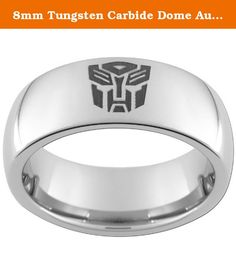 8mm Tungsten Carbide Dome Autobot Ring (full & half sizes 5-15) Size 12 1/2. This ring is an 8mm wide dome Tungsten Carbide comfort fit band with One(1) black Autobot image and an Ultra-Bright Finish. We recommend visiting more than one jewelry store to measure your finger. Your local mall is a great place to go (it is a free service). Because printable and plastic ring finger sizers can be inaccurate we recommend that you do not use them to size your finger. There is a 20% return fee on…