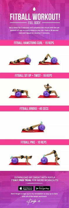 Kayla Fitball Workout
