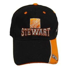 """NASCAR HAT CAP 20 TONY STEWART HOME DEPOT BLACK COTTON by Winner's Circle. $11.99. Number embroidered on brim panel. Team sponsor and drivers name on front panel. Driver signature embroidered on back panel and team on left panel. """"NASCAR"""" embroidered on velcro closure. Official Merchandise Licensed by Nascar.. Save 20% Off!"""