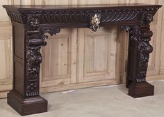 Stunning Louis XII Fireplace Mantel/Surround #antique
