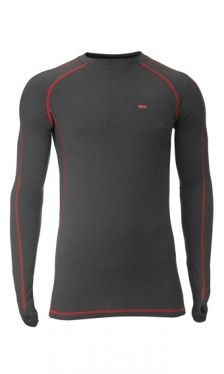 Men's Bamboo Contrast Stitch Baselayer - Slate : Bamboo Clothing