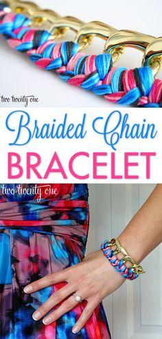 DIY braided chain bracelet! What a cute gift idea!