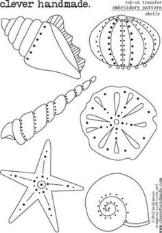 Clever+Handmade+-+Embroidery+Patterns+-+Rub+Ons+-+Shells+at+Scrapbook.com by esperanza