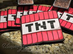 Uniquely Grace: Minecraft 3D Box Birthday Party Invitations - Custom Handmade Cards