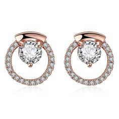 Rose Gold Plated Circular Studs Earings – Rose Cottage Scents