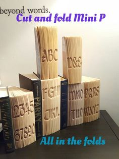 Cut and fold book folding alphabet patterns. Tutorials and free starter patterns on website! www.allinthefolds.co.uk