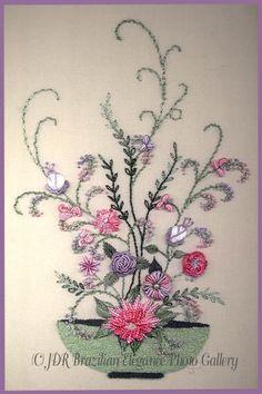 Brazilian+Embroidery | Brazilian Embroidery Design Bowl of Flower