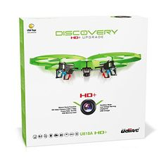 UDI 818A HD   Upgrade - RC Quadcopter Drone with Camera 720p HD - Headless Mode and Return Home Function - Do 360° Flips - BONUS BATTERY Doubles Flying Time - (USA Toyz Exclusive) *** Find out more about the great product at the image link.