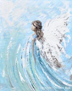 Angel Artwork, Angel Paintings, Art Paintings, Portrait Paintings, Acrylic Paintings, Green Paintings, Original Paintings, Spiritual Paintings, Angel Decor