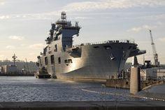 HMS Ocean. Royal Navy dock amphibious landing vessel/helicopter carrier.